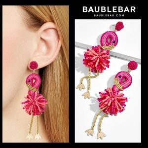 New!🌴Baublebar Beaded Flamingo Earrings!